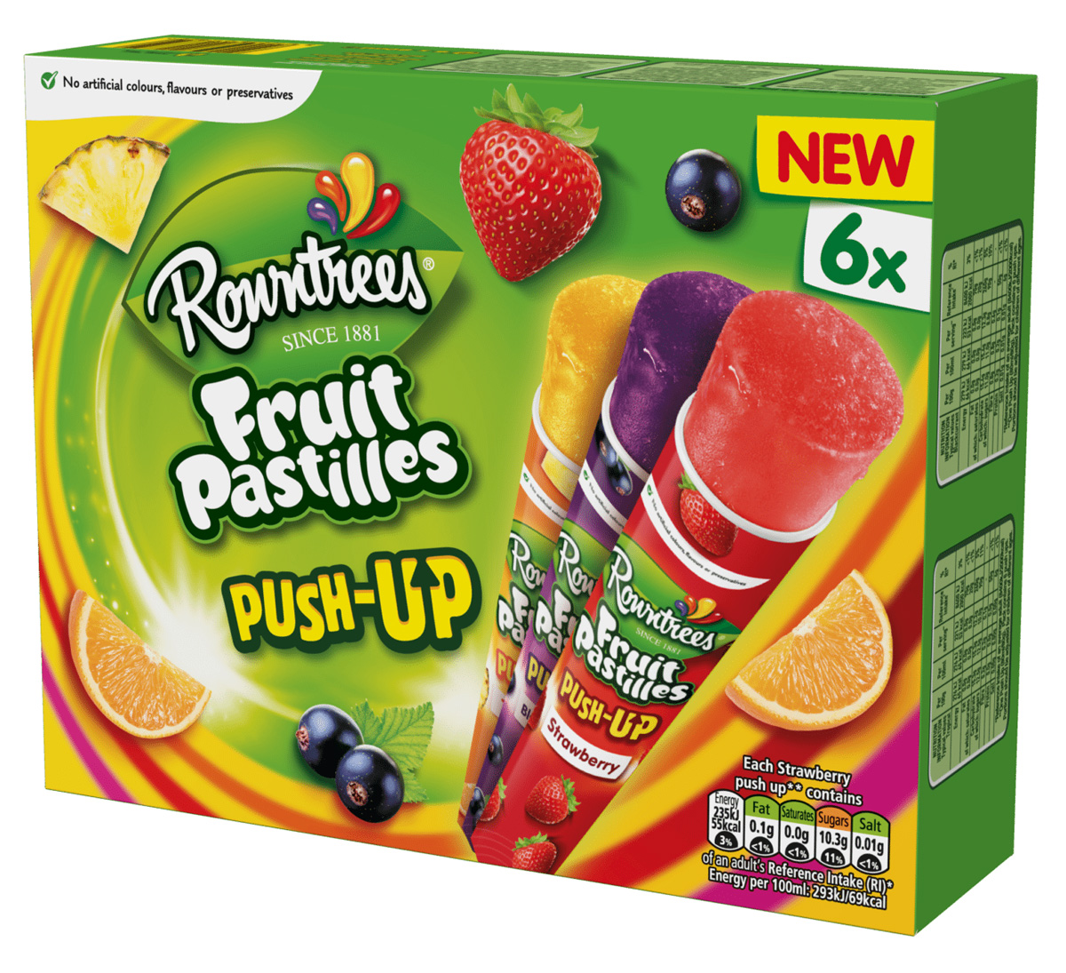 Rowntree Fruit Pastille Push Up Ice Lollies