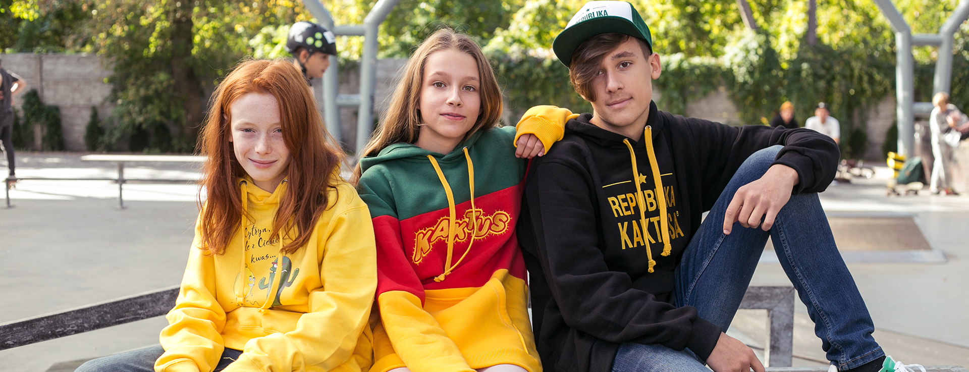 Kids wearing Kaktus Hoodies