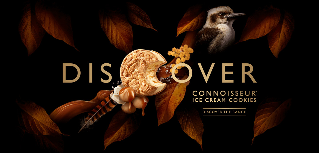Connoisseur Ice Cream Cookies Packaging